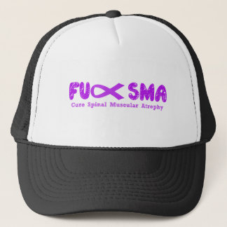 Fu SMA Awareness Ribbon Purple Trucker Hat