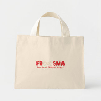 Fu SMA Awareness Ribbon Red Mini Tote Bag