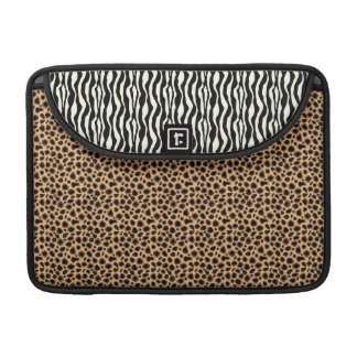 Fuax Cheetah and Zebra Live in Harmony Sleeve For MacBook Pro