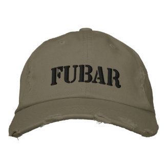 FUBAR EMBROIDERED BASEBALL CAPS