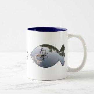 FUBAR Fishing Two-Tone Coffee Mug