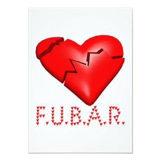 """FUBAR INVITACIÓN 5"""" X 7"""""""