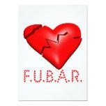 FUBAR INVITACIÓN 12,7 X 17,8 CM