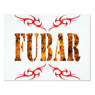 "FUBAR 4.25"" X 5.5"" INVITATION CARD"