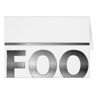 """FUBAR or is it """"foo bar""""? Card"""