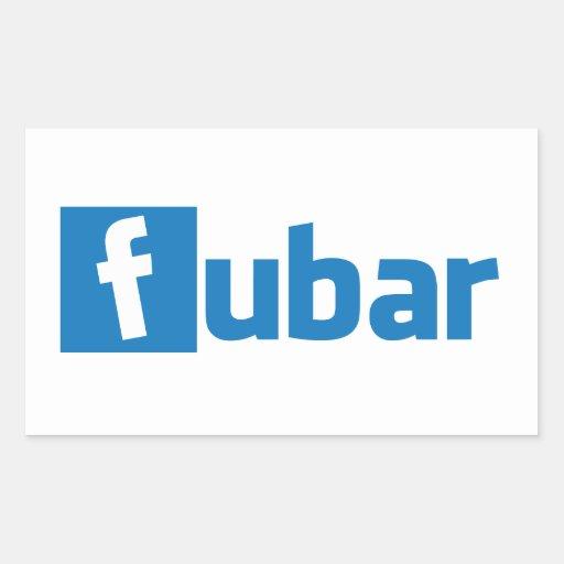 FUBAR RECTANGLE STICKER