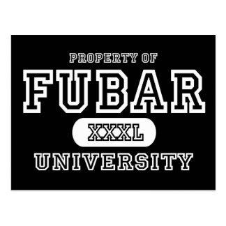 Fubar Univeristy Dark Postcard
