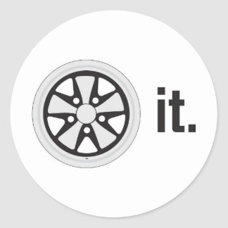 fuch wheel it classic round sticker