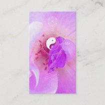 *~*  Fuchia Pink Lavender Violet Rose Floral Business Card