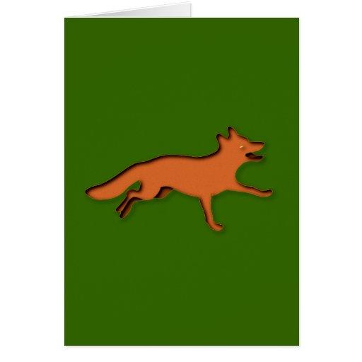 Fuchs fox tarjeta de felicitación