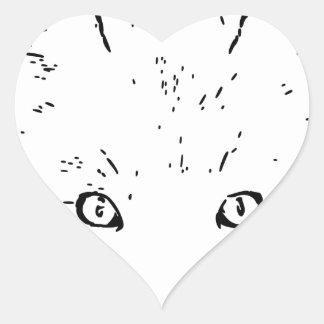fuchs polarmente fox pegatina en forma de corazón