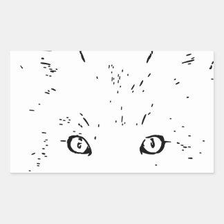 fuchs polarmente fox pegatina rectangular