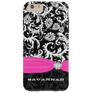 Fuchsi White Plus Any Color Damask Printed Crystal Tough iPhone 6 Plus Case