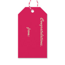 Fuchsia 10-Pack of Gift Tags