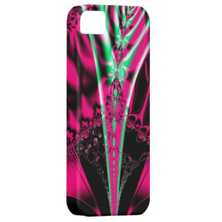 Fuchsia Alien Mardi Gras Mask Fractal iPhone 5 Covers