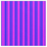 [ Thumbnail: Fuchsia and Blue Colored Striped Pattern Fabric ]
