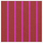 [ Thumbnail: Fuchsia and Dark Red Colored Stripes Fabric ]