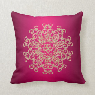 Fuchsia and Gold Indian Style Pillows