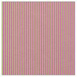 [ Thumbnail: Fuchsia and Green Pattern Fabric ]