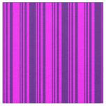 [ Thumbnail: Fuchsia and Indigo Pattern Fabric ]