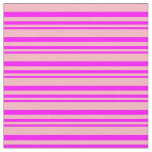 [ Thumbnail: Fuchsia and Light Pink Pattern of Stripes Fabric ]