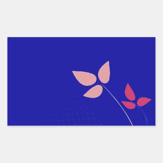 Fuchsia and navy blue wedding rectangular sticker