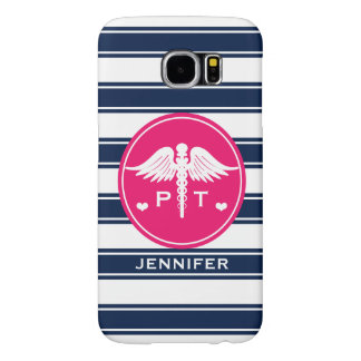 FUCHSIA AND NAVY STRIPE PHYSICAL THERAPY PT SAMSUNG GALAXY S6 CASE