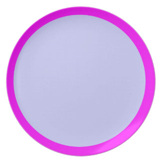 Fuchsia and Periwinkle Plate