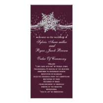 fuchsia and silver winter wedding invitations rack card