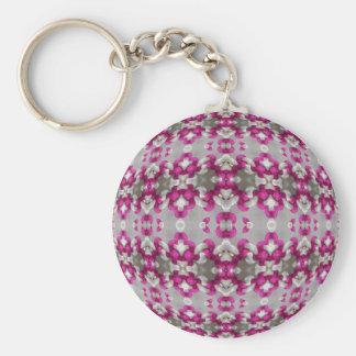 Fuchsia Bindings Basic Round Button Keychain