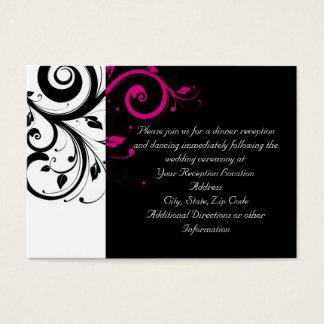 Fuchsia Black Reverse Swirl Reception and Map Card
