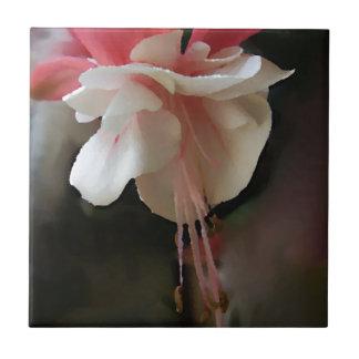 Fuchsia Bloom Small Square Tile