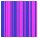 [ Thumbnail: Fuchsia & Blue Colored Pattern Fabric ]