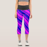 [ Thumbnail: Fuchsia & Blue Colored Pattern Leggings ]
