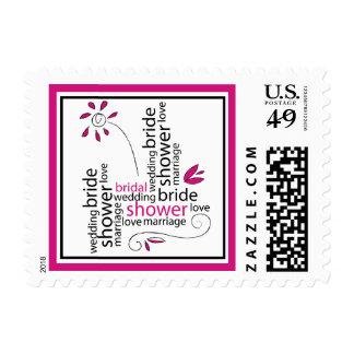 Fuchsia Bridal Shower Stamps