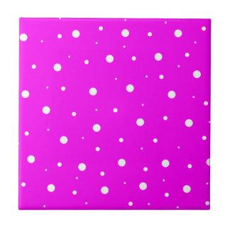 Fuchsia Bubbles Tiles