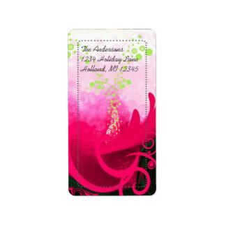 Fuchsia Calla Lily Return Address Labels