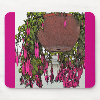 """FUCHSIA CASCADING FROM HANGING BASKET"" MOUSEPAD"