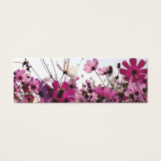 Fuchsia Chamomile Bookmark (Customizable) Mini Business Card