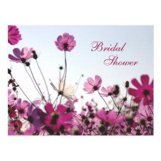Fuchsia Chamomile Shower Invite (Customizable) Postcard