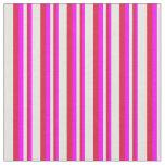 [ Thumbnail: Fuchsia, Crimson, and Beige Striped Pattern Fabric ]