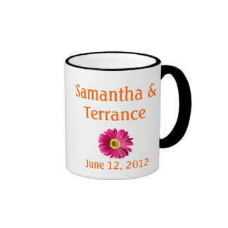 Fuchsia Daisy Flower Customizable Ringer Mug