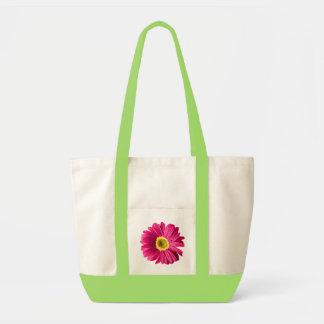 Fuchsia Daisy Flower Tote Bag