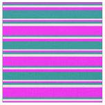 [ Thumbnail: Fuchsia, Dark Cyan & White Colored Pattern Fabric ]