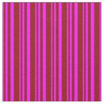 [ Thumbnail: Fuchsia & Dark Red Lines Fabric ]
