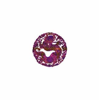 Fuchsia Dragon Medallion Statuette