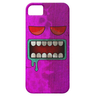Fuchsia Drooling Red-Eyed Monster Face iPhone SE/5/5s Case