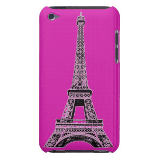 Fuchsia Eiffel Tower Phone Cases and Covers iPod Case-Mate Cases