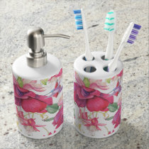 Fuchsia Fantasy Bathroom Set
