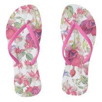 Fuchsia Fantasy Flip Flops